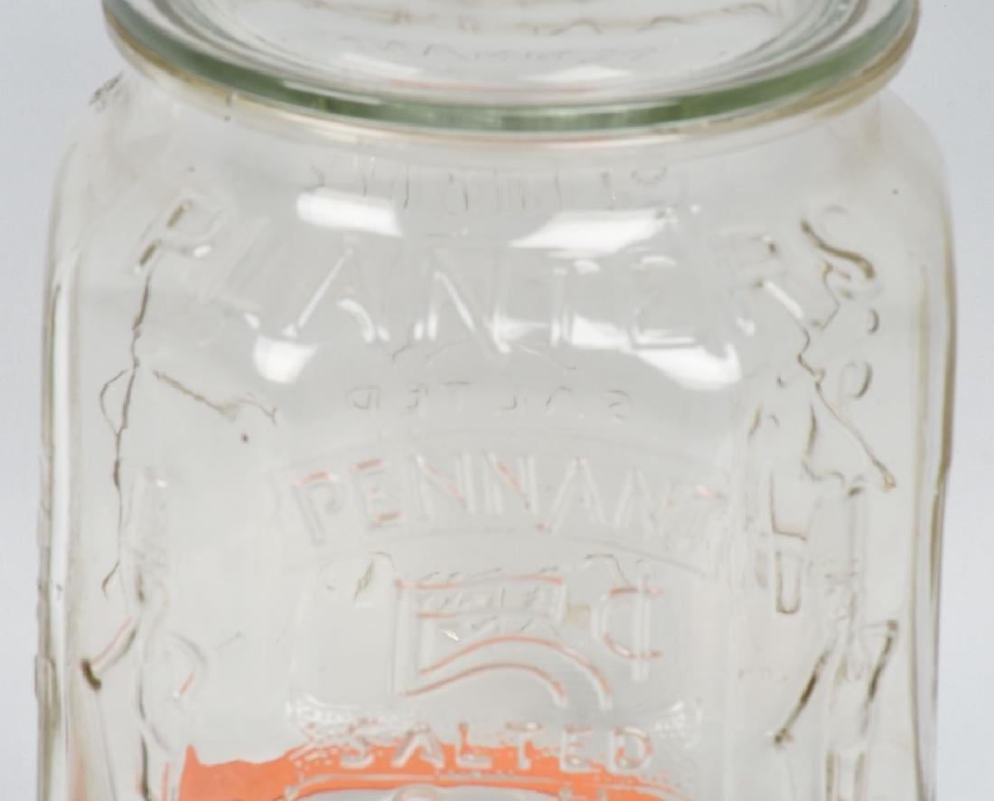 PLANTERS PEANUT 5c OCTAGON STORE DISPLAY JAR - 2
