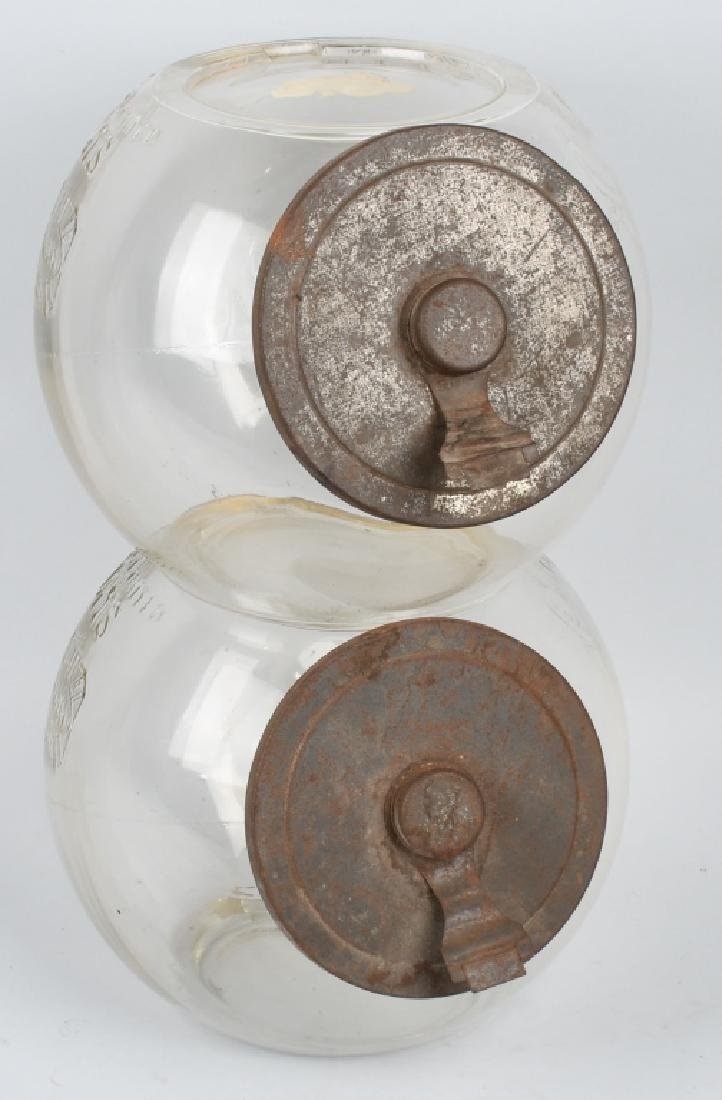 CHRISTIE'S BUSCUITS DOUBLE STORE DISPLAY JAR