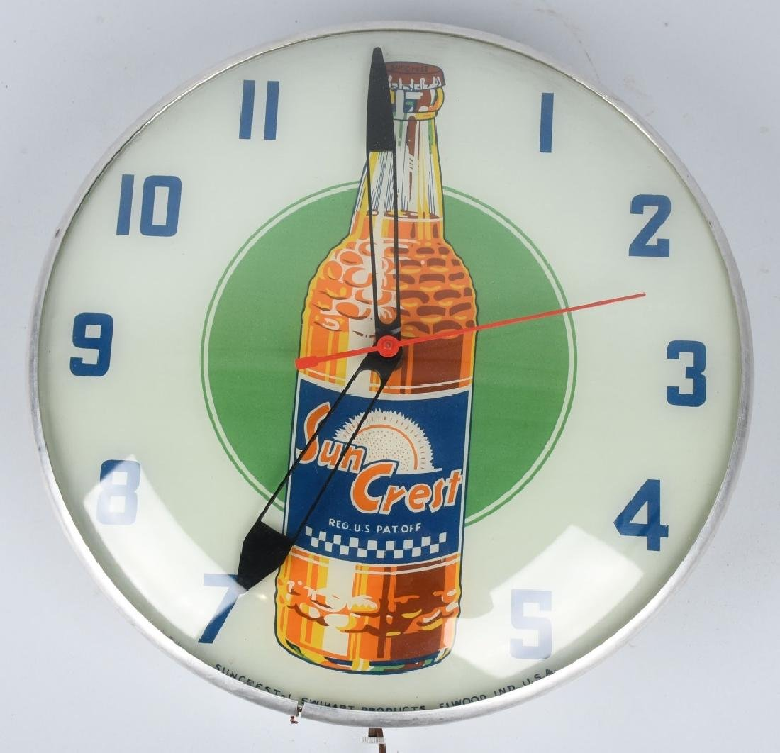 SUN CREST ORANGE SODA PAM BUBBLE CLOCK