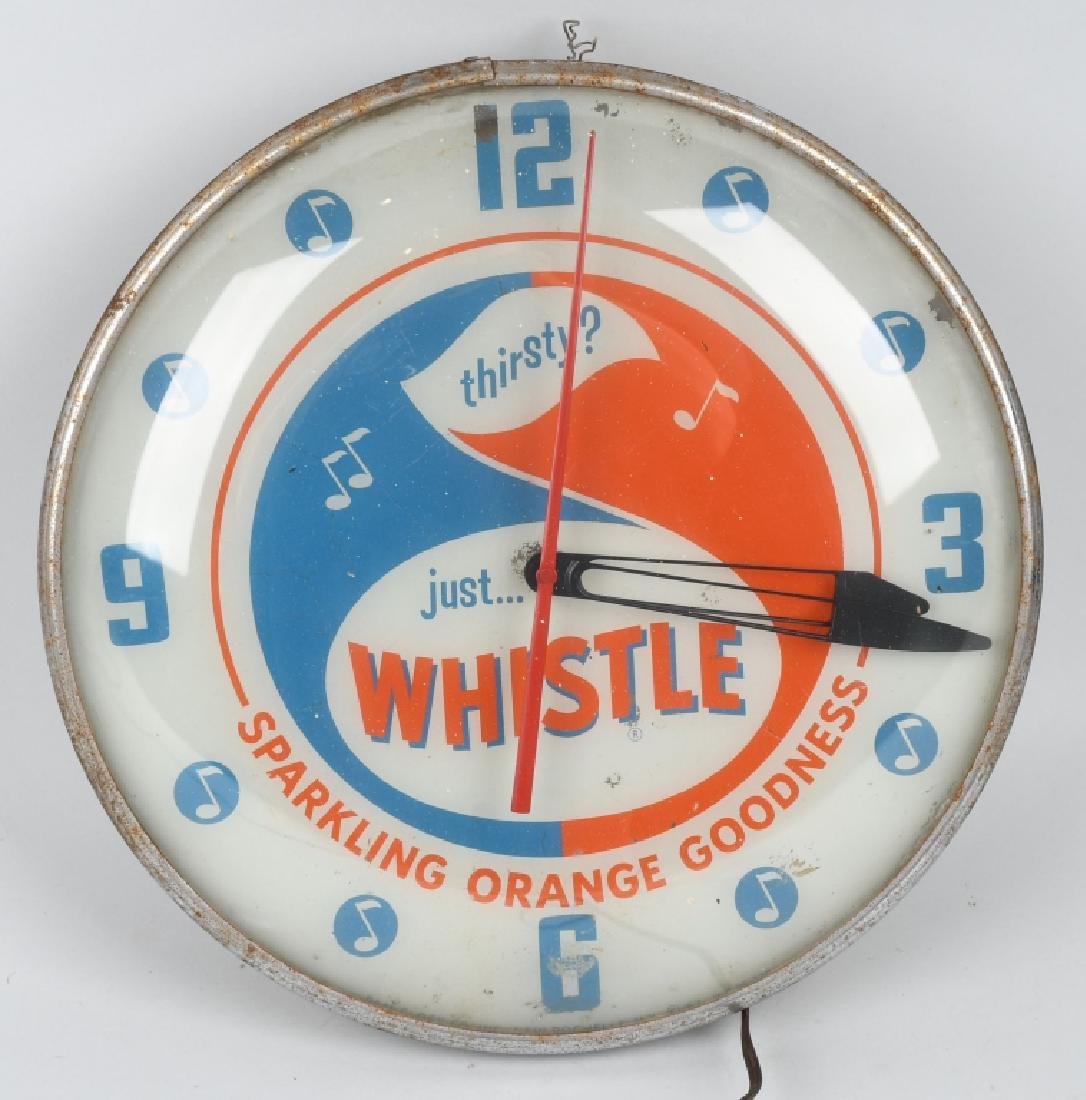 WHISTLE ORANGE SODA PAM BUBBLE CLOCK