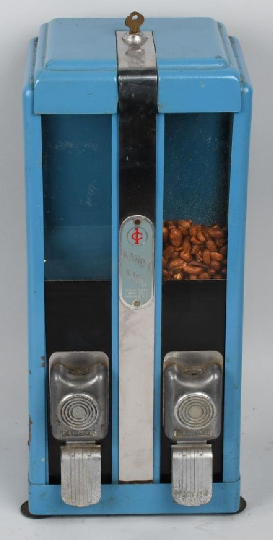 1c HOLLI-WARE KANDY KING DOUBLE VENDING MACHINE