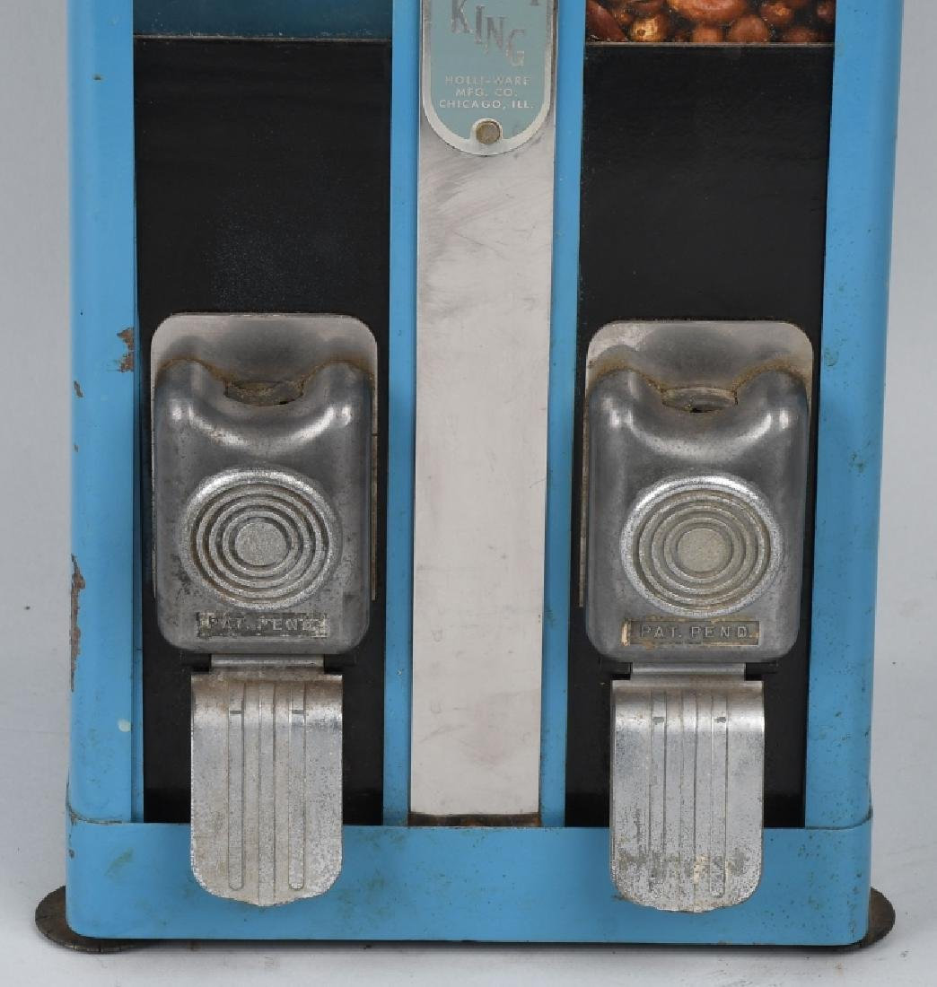 1c HOLLI-WARE KANDY KING DOUBLE VENDING MACHINE - 3
