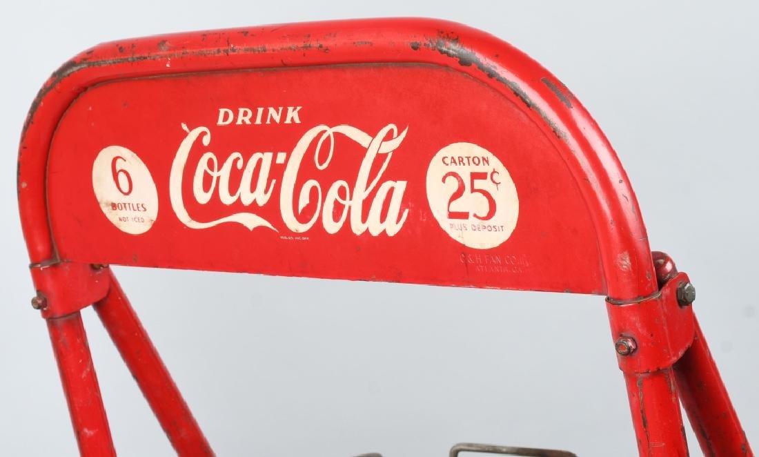 1940s COCA COLA RACK ON WHEELS - 4