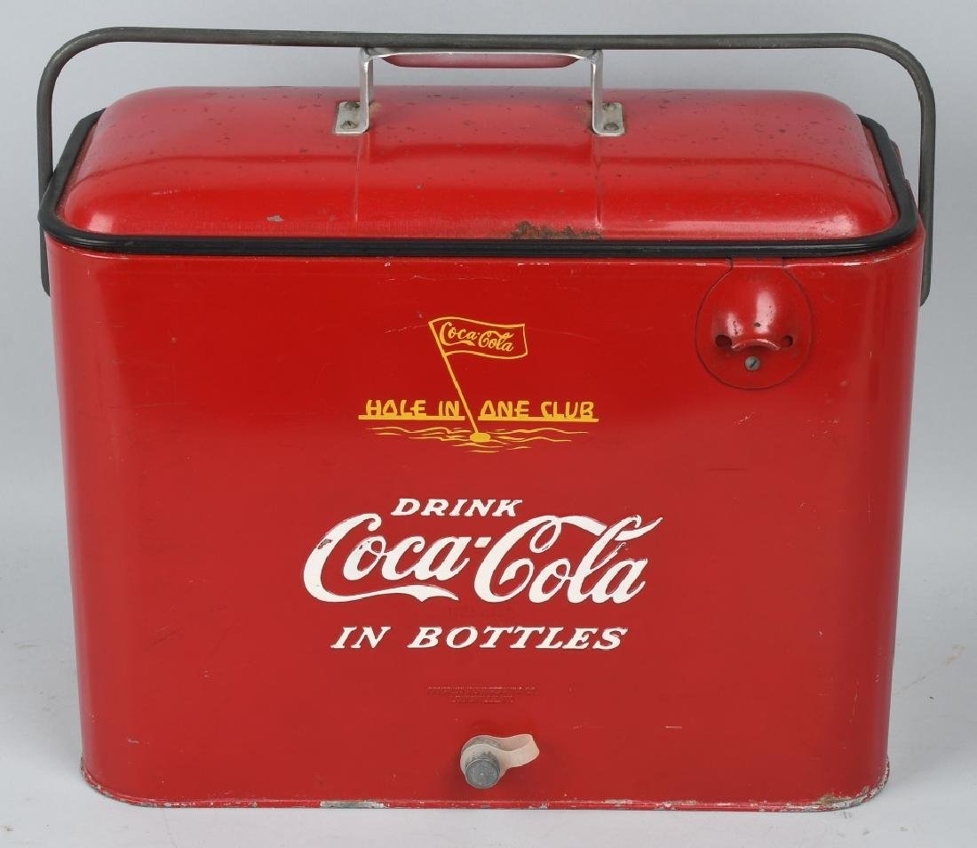 """COCA COLA """"HOLE IN ONE CLUB"""" COOLER"""
