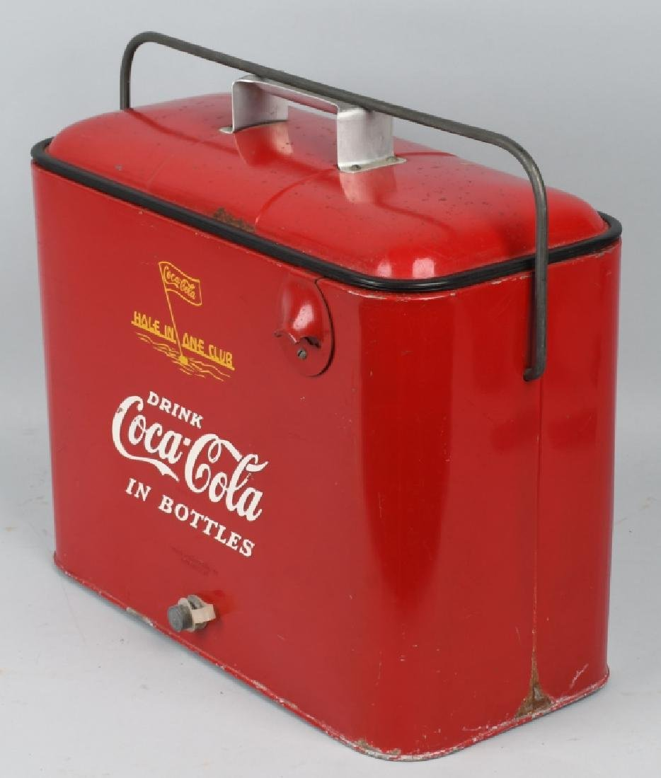"""COCA COLA """"HOLE IN ONE CLUB"""" COOLER - 3"""