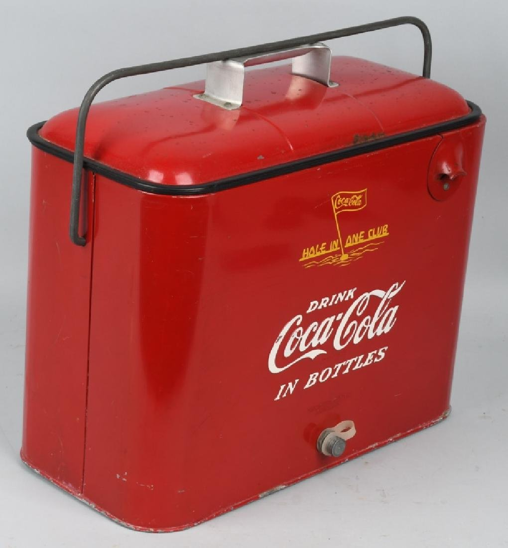 """COCA COLA """"HOLE IN ONE CLUB"""" COOLER - 4"""