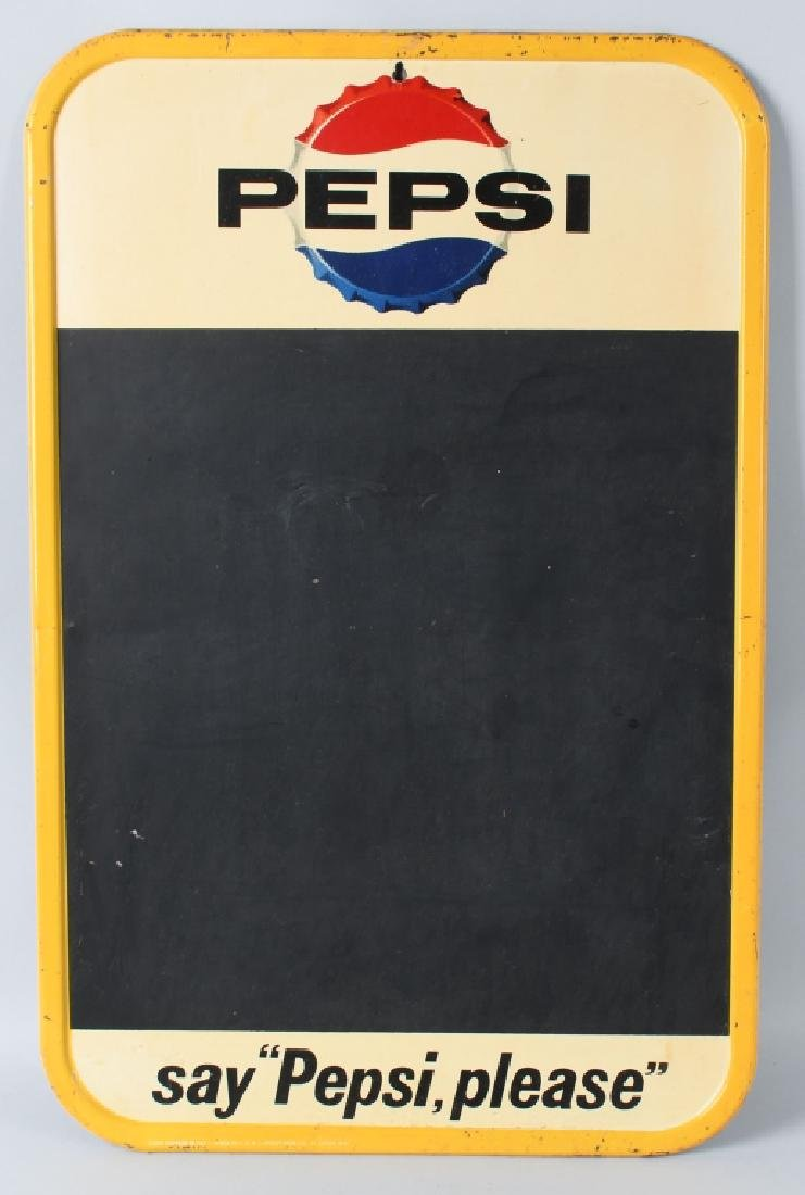 SAY PEPSI PLEASE TIN CHALKBOARD SIGN