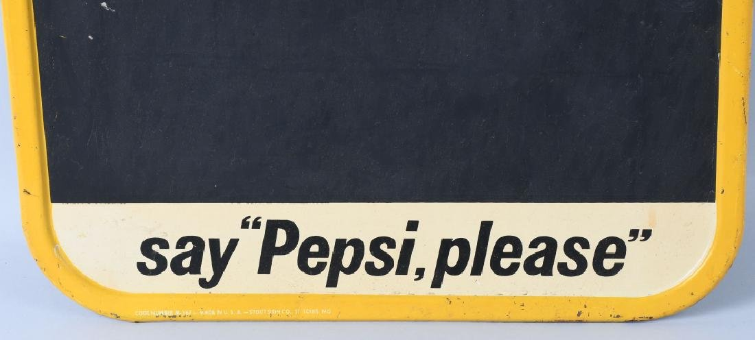 SAY PEPSI PLEASE TIN CHALKBOARD SIGN - 3