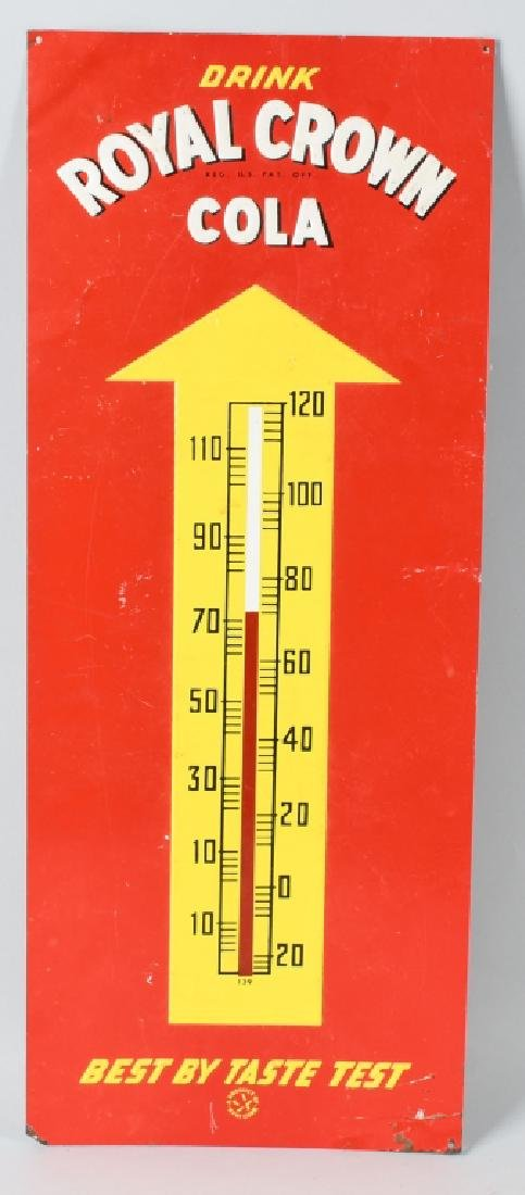 ROYAL CROWN SODA TIN THERMOMETER SIGN