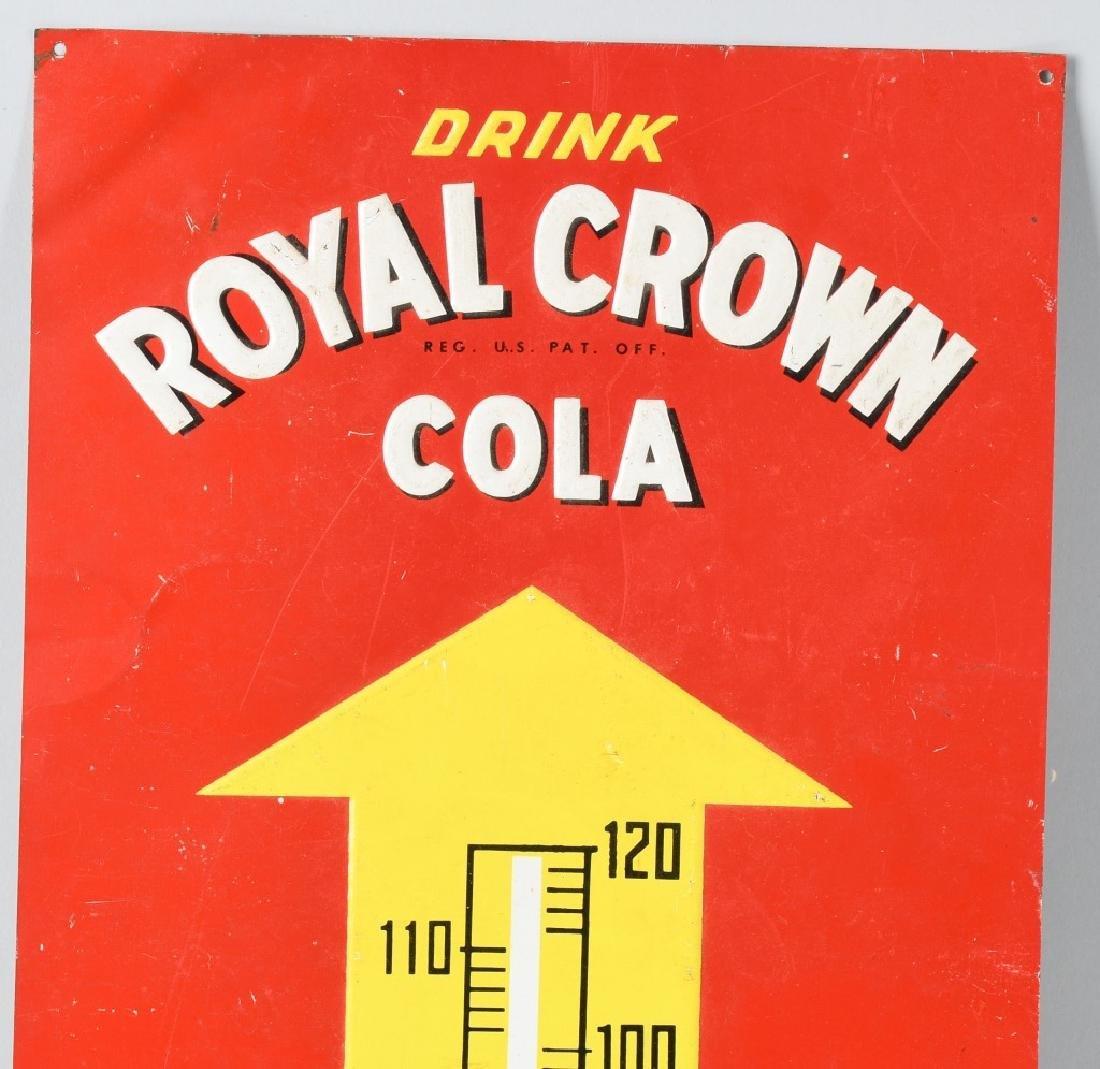 ROYAL CROWN SODA TIN THERMOMETER SIGN - 2