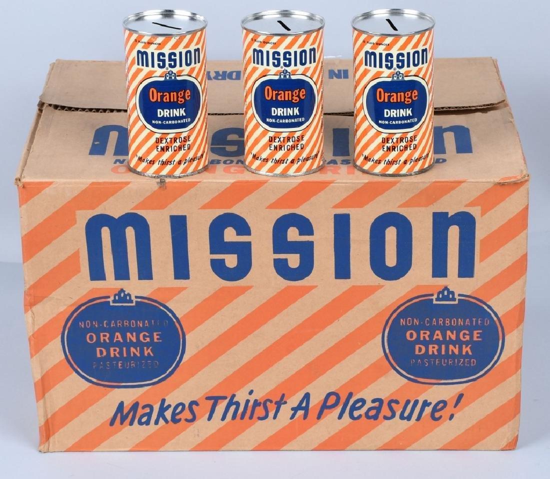 MISSION ORANGE DRINK FULL CASE 48 CAN BANKS