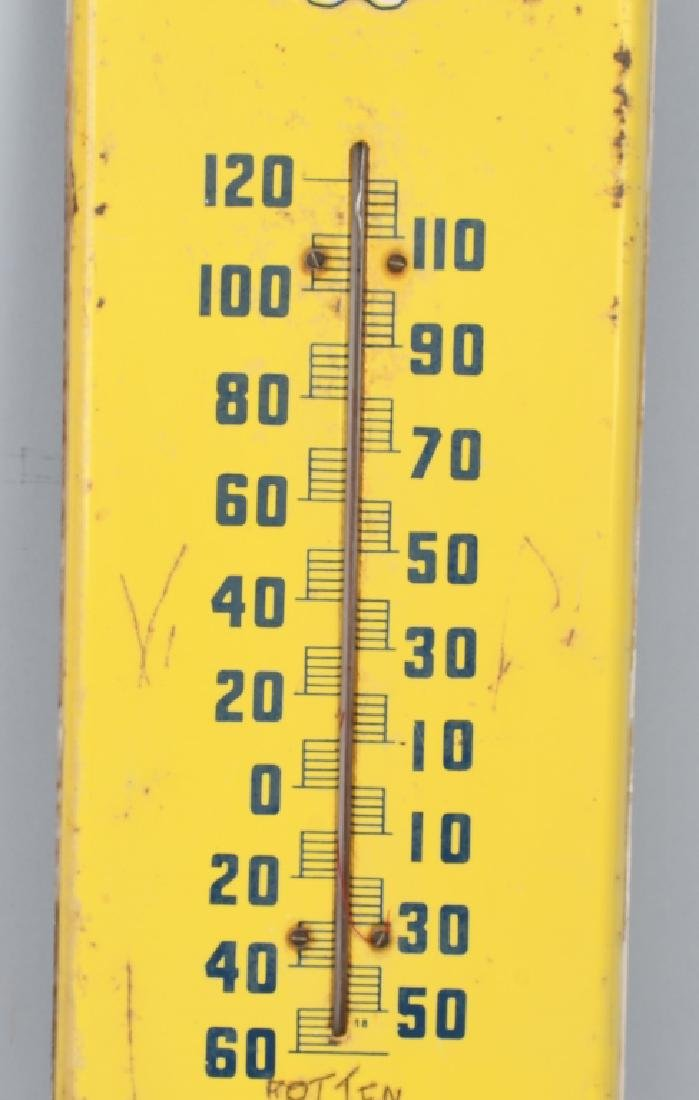 PEPSI COLA TIN EMBOSSED THERMOMETER - 3