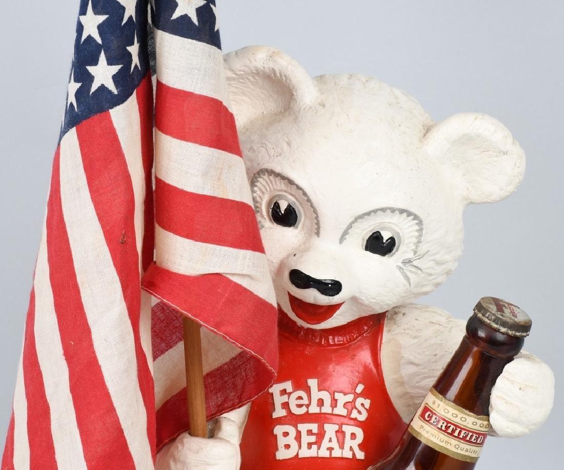 FEHR'S BEER BEAR CHALKWARE ADVERTISING STATUE - 2