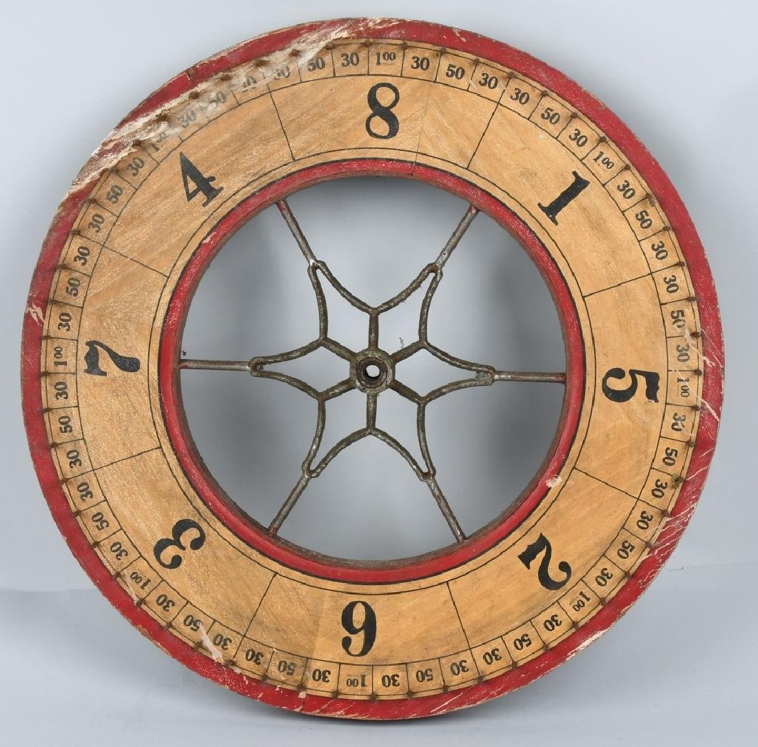EARLY DOUBLE SIDED ROULETTE WHEEL
