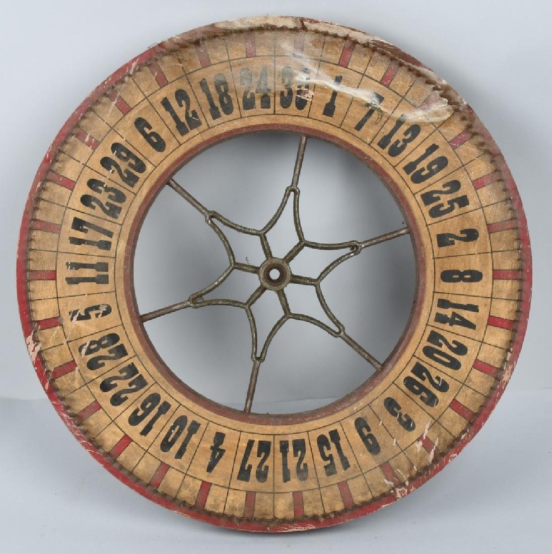 EARLY DOUBLE SIDED ROULETTE WHEEL - 2