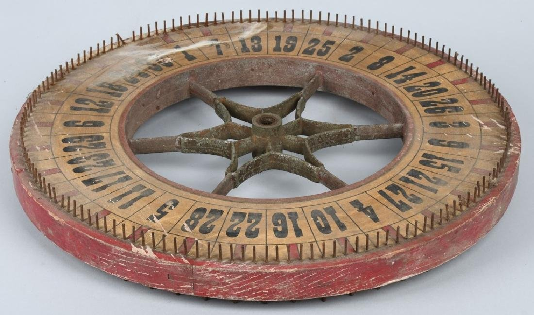 EARLY DOUBLE SIDED ROULETTE WHEEL - 4