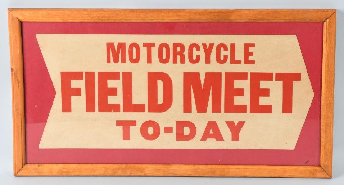 VINTAGE AMA MOTORCYCLE FIELD MEET TODAY SIGN