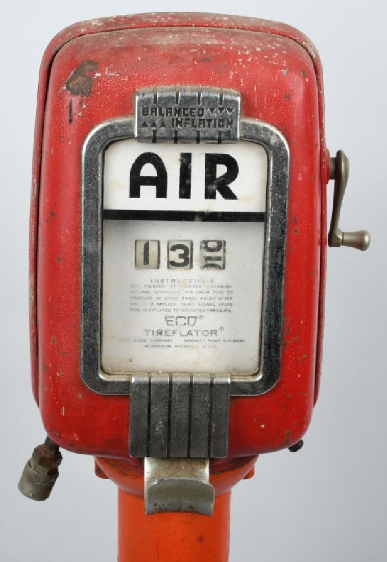 VINTAGE ECO TIREFLATOR GAS STATION AIR PUMP - 2