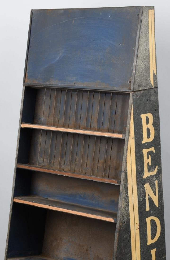 VINTAGE BENDIX TIN PARTS DISPLAY CABINET - 2