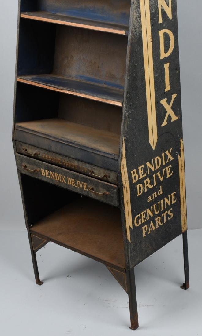 VINTAGE BENDIX TIN PARTS DISPLAY CABINET - 3