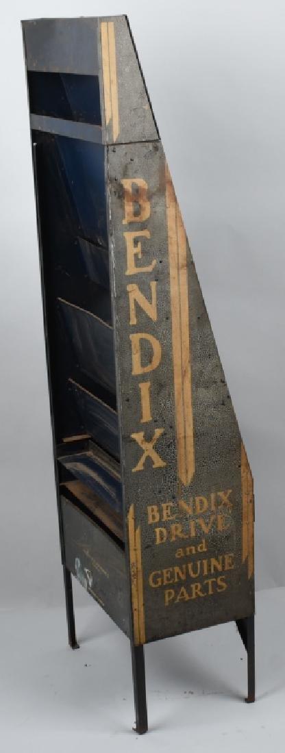 VINTAGE BENDIX TIN PARTS DISPLAY CABINET - 4