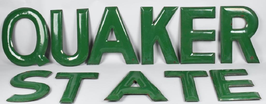 "18"" QUAKER STATE PORCELAIN LETTERS"