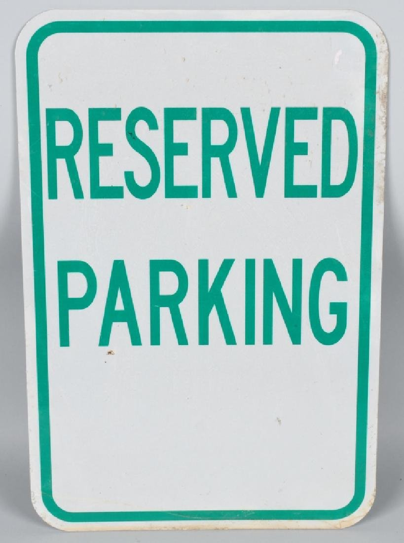 5-ALUMINIUM SIGNS, STOP, RESERVED PARKING & MORE - 6