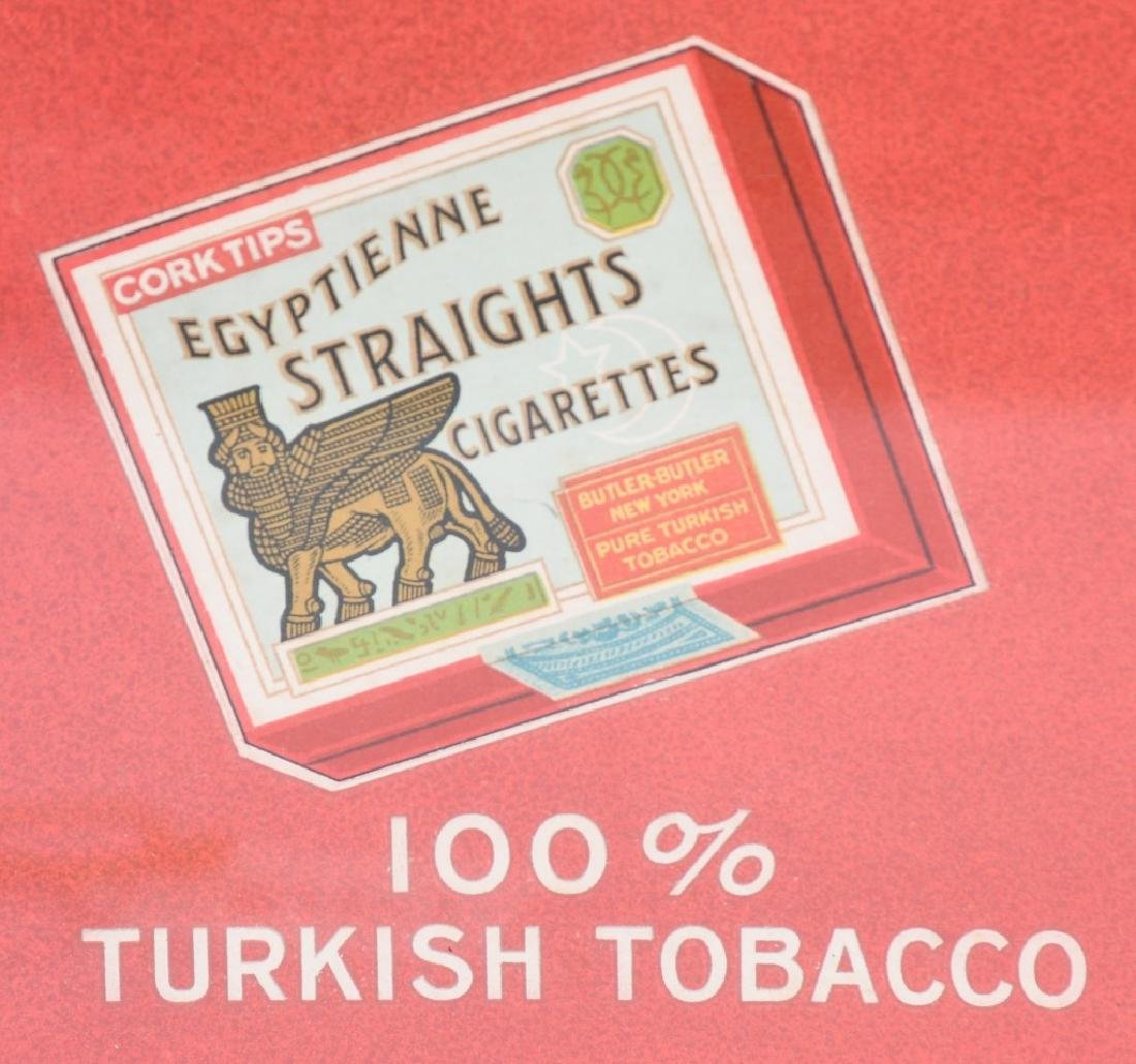 EGYPTIAN STRAIGHTS CIGARETTES SIGN w/ FRAME - 3