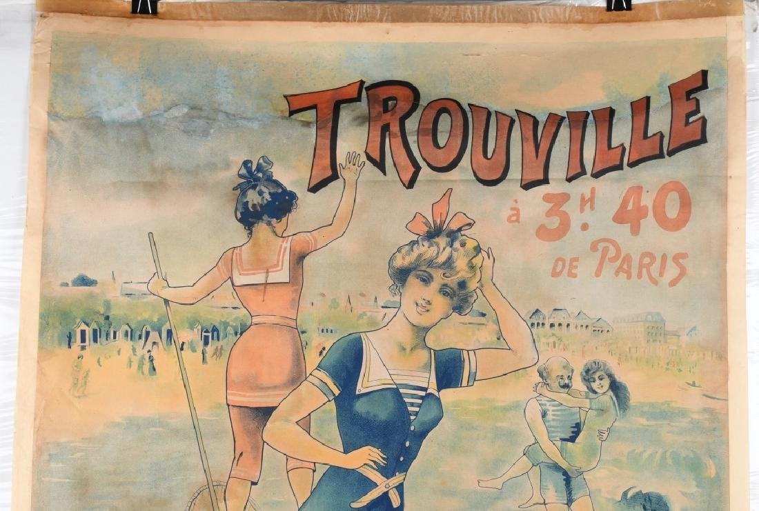 EARLY FENCH TROUVILLE BEACH POSTER J. CHAUME - 2