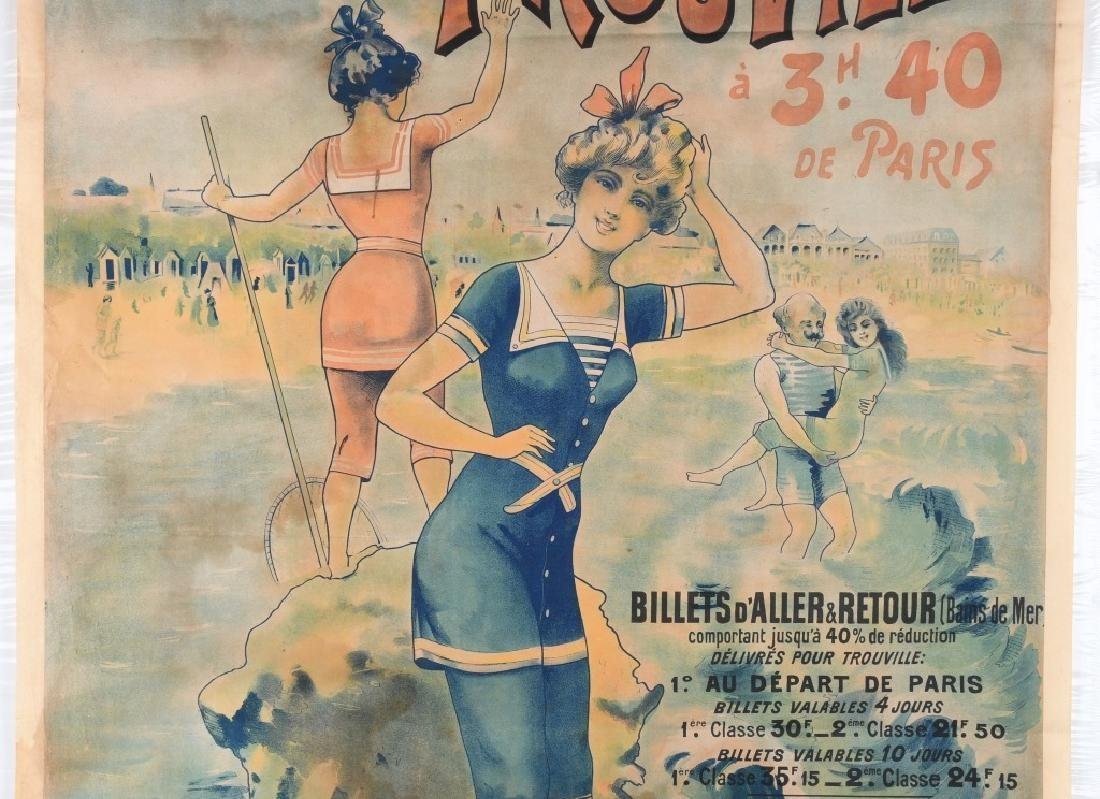 EARLY FENCH TROUVILLE BEACH POSTER J. CHAUME - 3