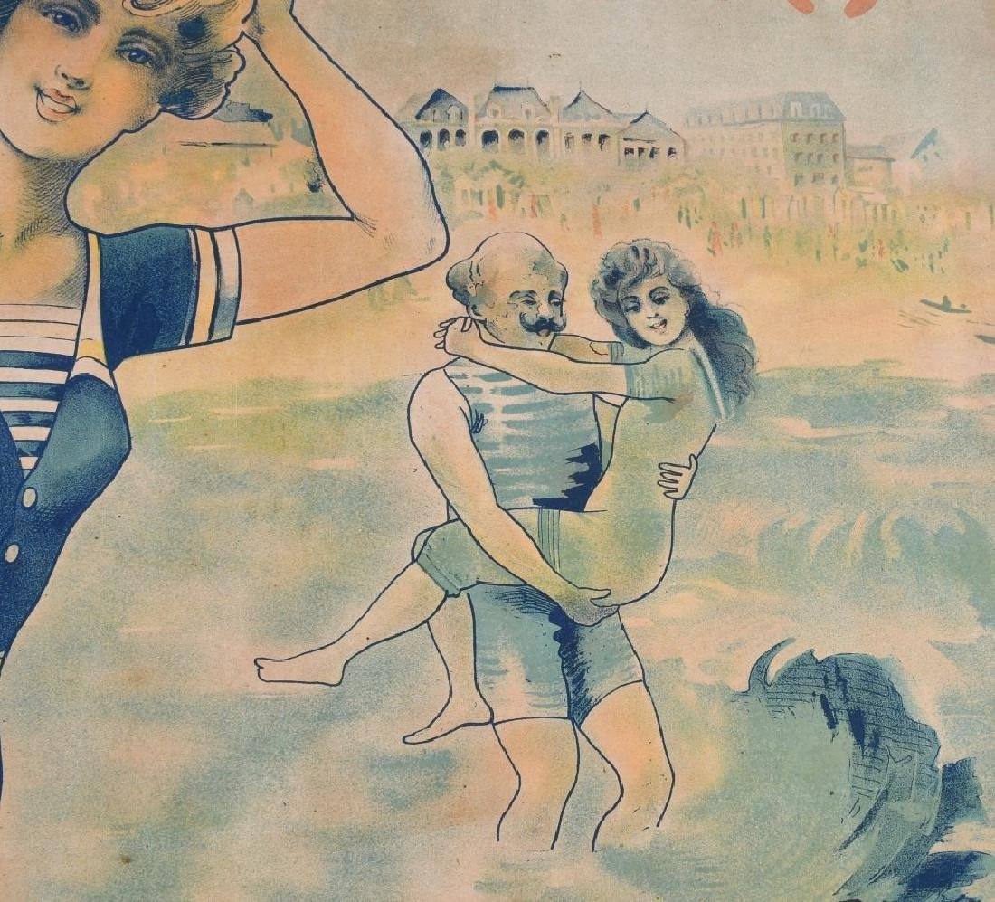 EARLY FENCH TROUVILLE BEACH POSTER J. CHAUME - 7