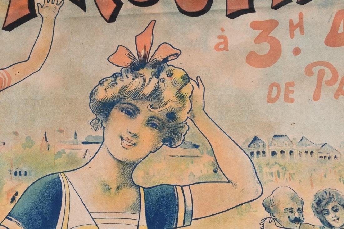 EARLY FENCH TROUVILLE BEACH POSTER J. CHAUME - 8