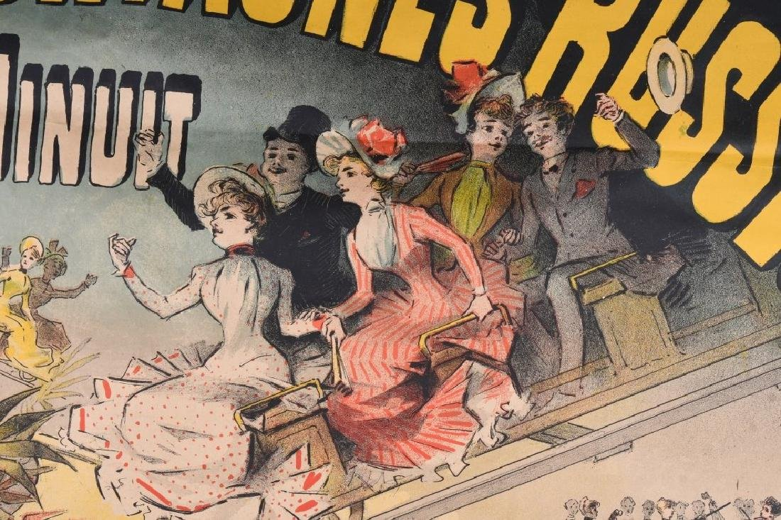 1888 FRENCH MONTAGNES RUSSES ROLLER COASTER POSTER - 5