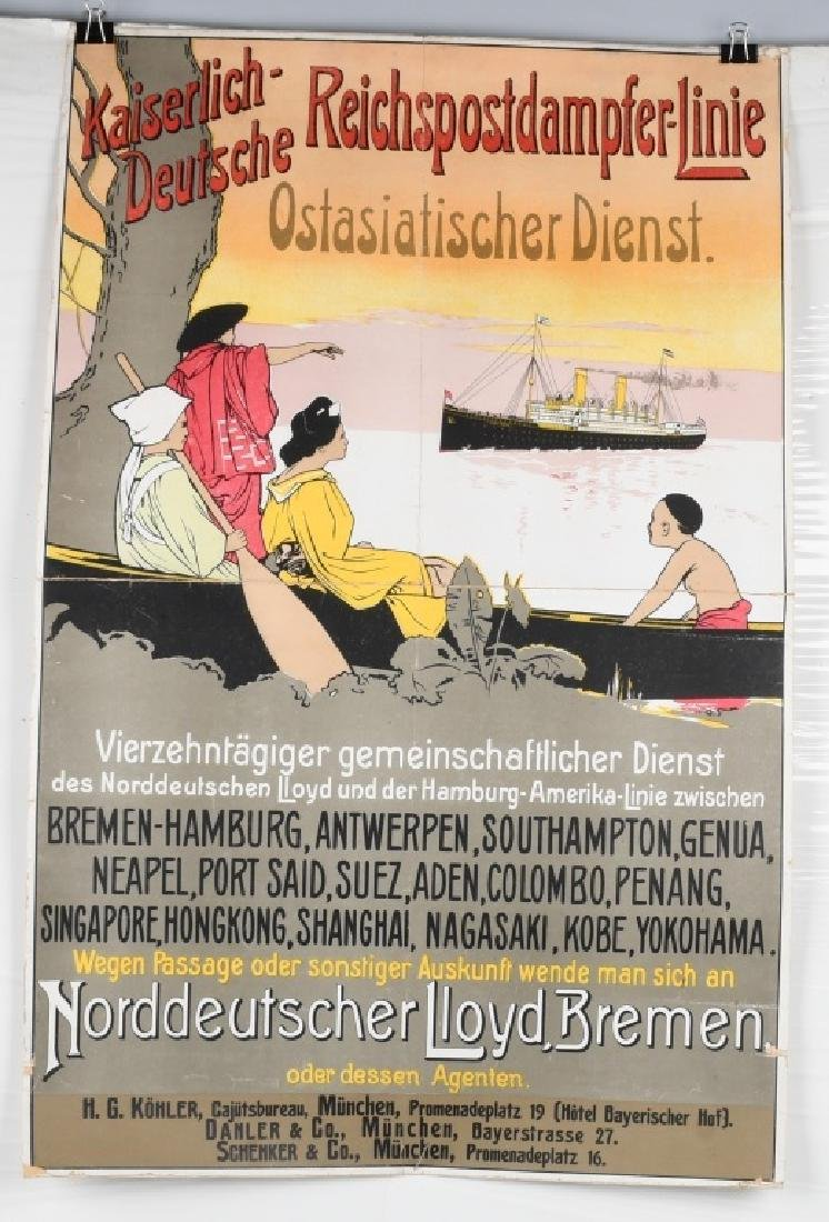 IMPERIAL GERMAN OCEAN LINER POSTER