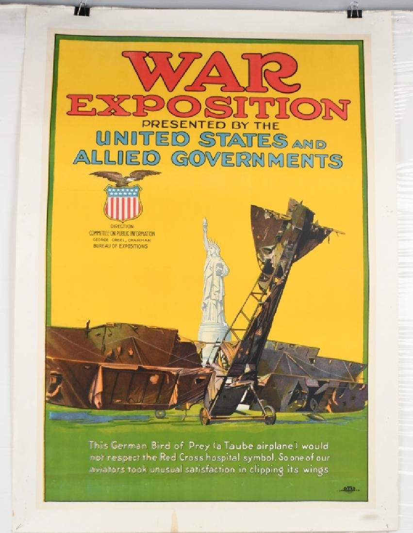 WWI WAR EXPOSTION POSTER By OTIS LITHO
