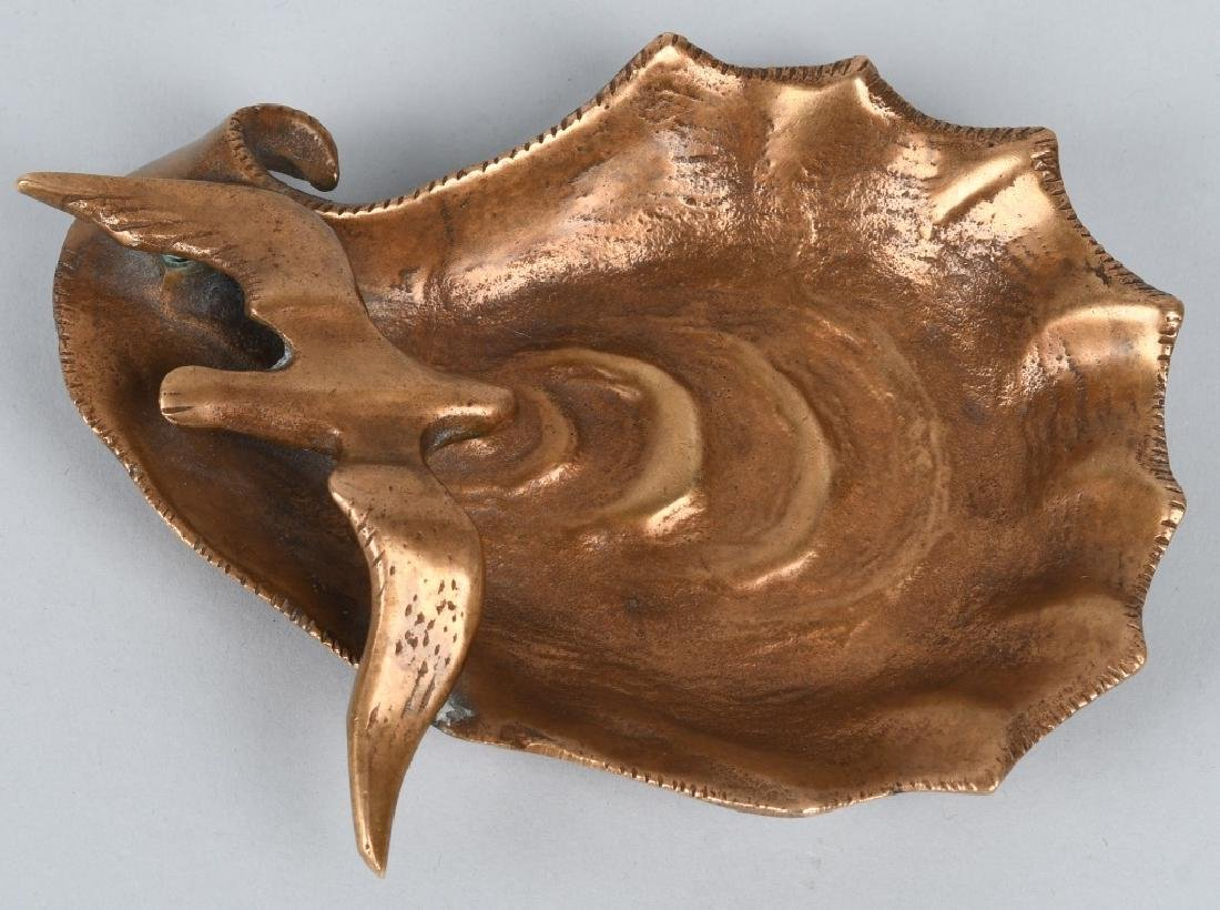 BRONZE SEAGULL / SHELL ASHTRAY, GRAHAM