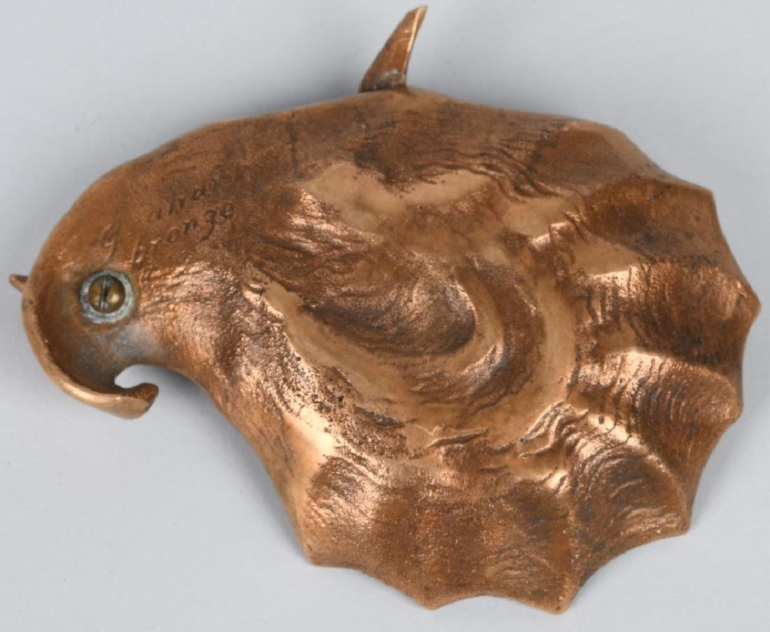 BRONZE SEAGULL / SHELL ASHTRAY, GRAHAM - 3