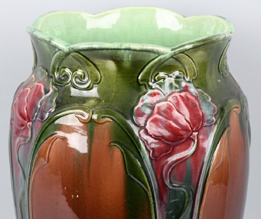WELLER POTTERY ART NOUVEAU UMBRELLA STAND - 2