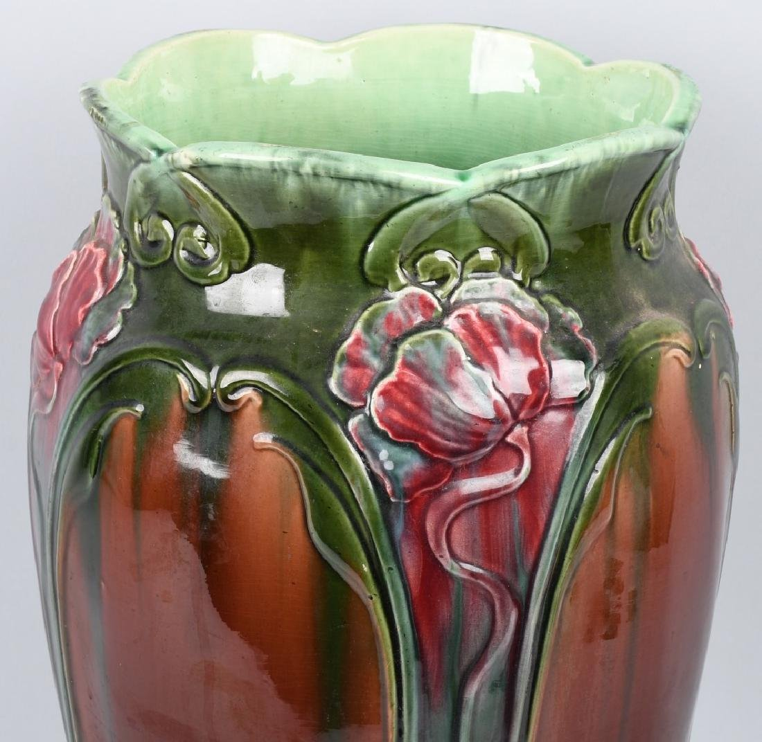 WELLER POTTERY ART NOUVEAU UMBRELLA STAND - 8