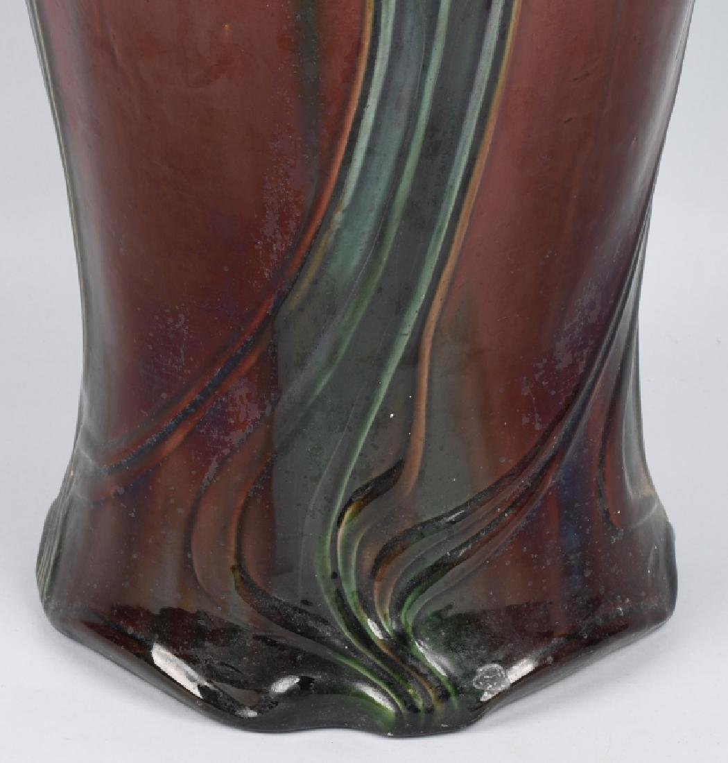 WELLER POTTERY ART NOUVEAU UMBRELLA STAND - 9