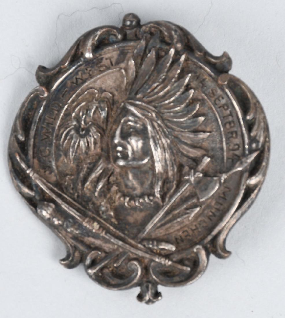 1894 MUNCHEN BUFFALO BILL WILD WEST SHOW MEDAL