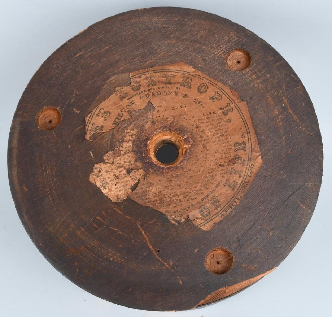 EARLY WOODEN ZOETROPE WITH STRIPS - 3