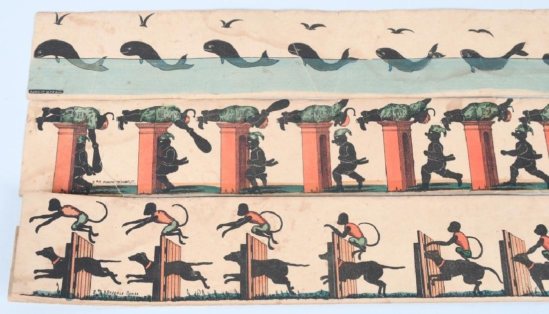 EARLY WOODEN ZOETROPE WITH STRIPS - 7