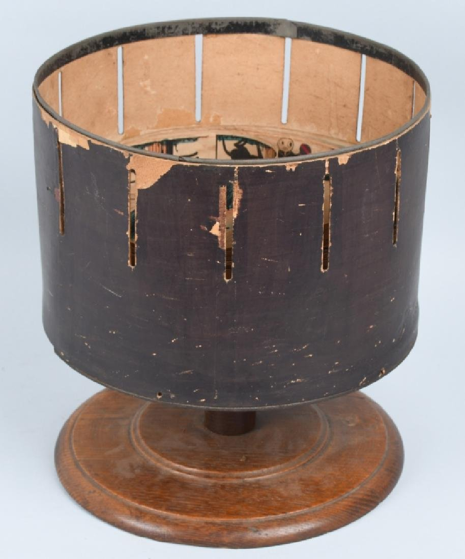 EARLY WOODEN ZOETROPE WITH STRIPS - 9