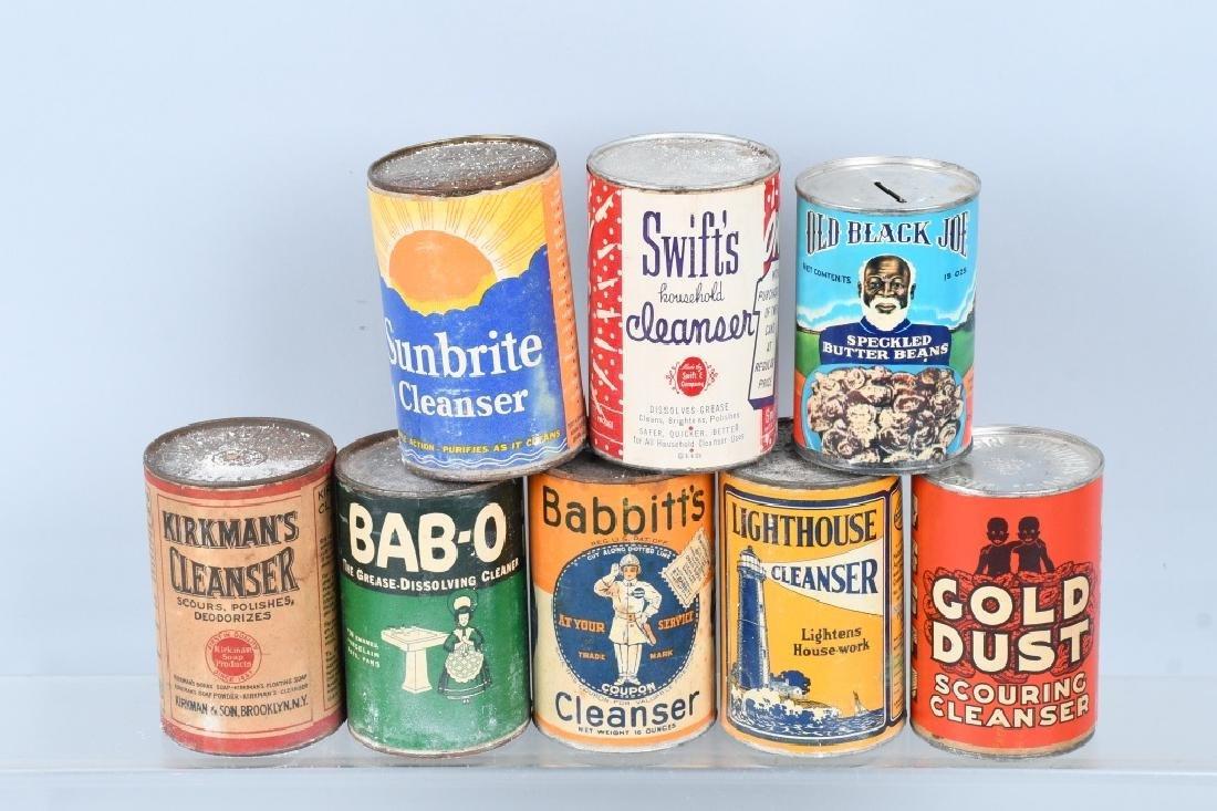 8- CANS OF VINATGE CLEANSER