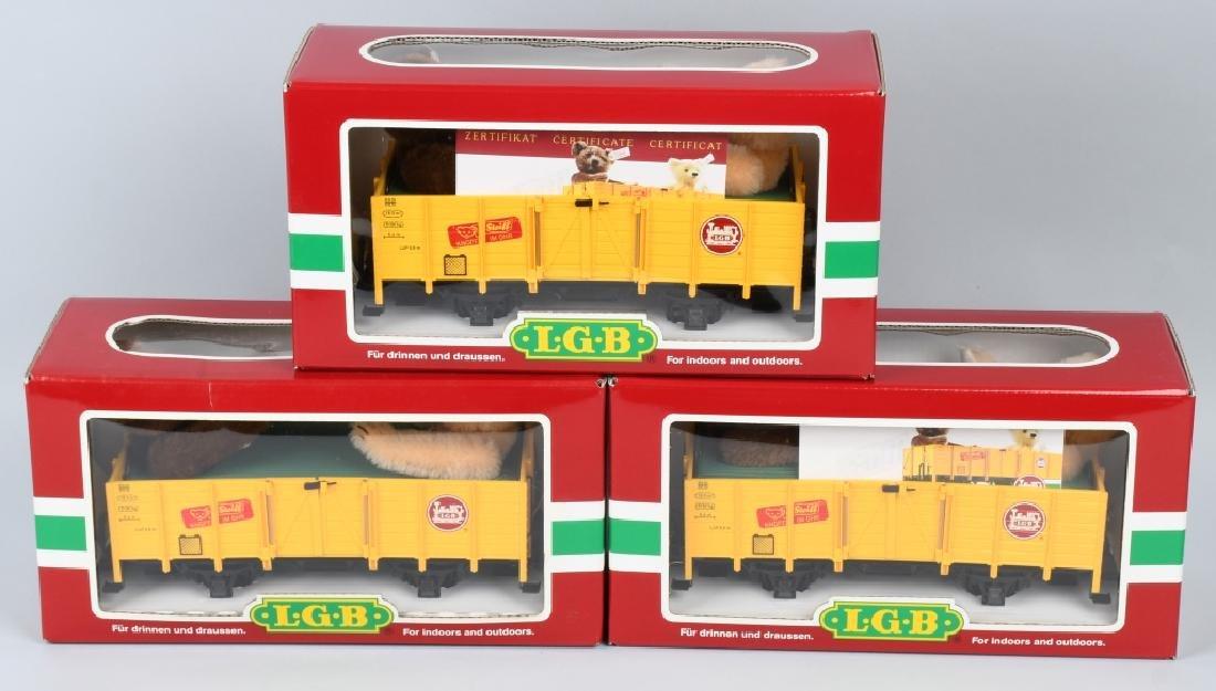 3- LGB #44210 STEIFF BEAR TRAIN CARS MIB