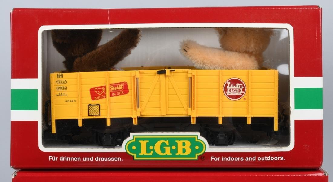 3- LGB #44210 STEIFF BEAR TRAIN CARS MIB - 3