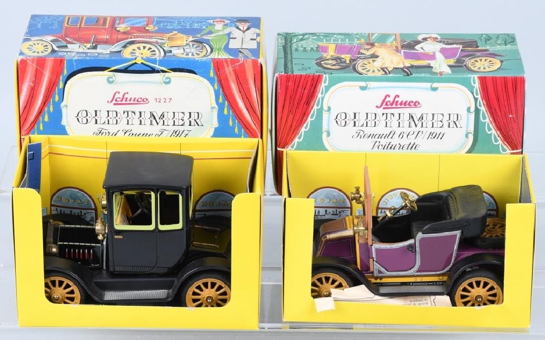 2- SCHUCO WINDUP OLD TIMER CARS w/ BOX - 2