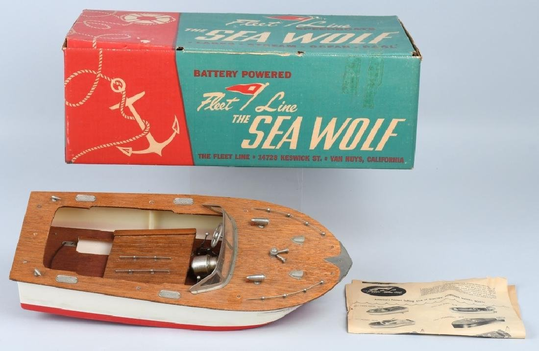 JAPAN BATTERY OP FLEET LINE SEA WOLF WOOD BOAT