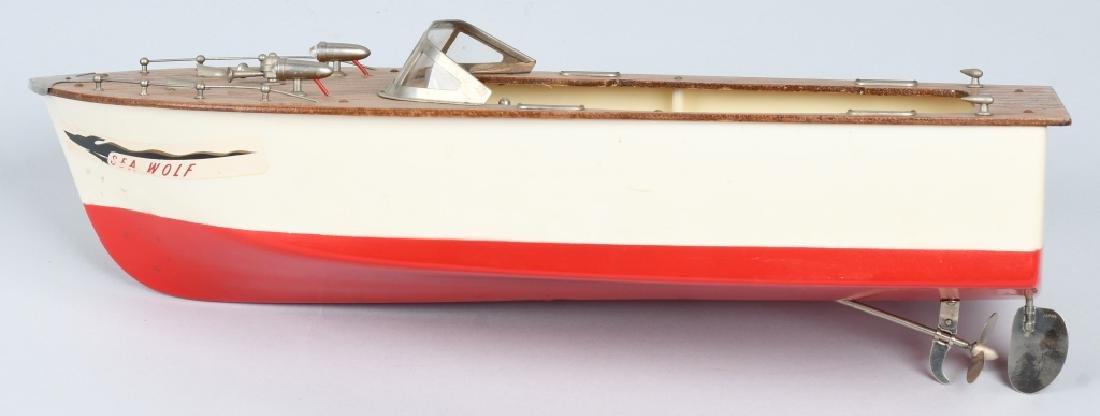 JAPAN BATTERY OP FLEET LINE SEA WOLF WOOD BOAT - 3
